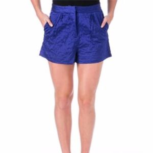 NWT Elizabeth and James Satin Quilted Shorts
